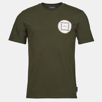 Clothing Men Short-sleeved t-shirts Scotch & Soda GRAPHIC LOGO T-SHIRT Khaki