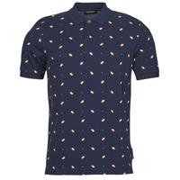 Clothing Men Short-sleeved polo shirts Scotch & Soda ALL-OVER PRINTED PIQUE POLO Marine
