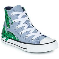 Shoes Children Hi top trainers Converse CHUCK TAYLOR ALL STAR DINO DAZE HI Blue / Green