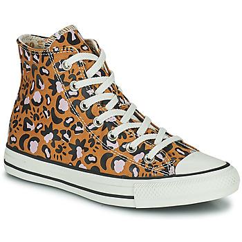 Shoes Women Hi top trainers Converse CHUCK TAYLOR ALL STAR MYSTIC WORLD HI Mustard / Pink