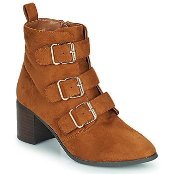 Shoes Women High boots Moony Mood PAOLA Camel
