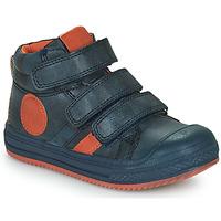 Shoes Boy Hi top trainers Mod'8 TALYE Marine / Orange