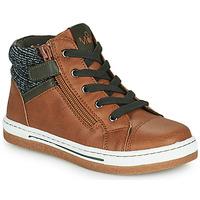 Shoes Boy Hi top trainers Mod'8 KYNATA Cognac