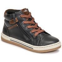 Shoes Boy Hi top trainers Mod'8 KYNATA Marine / Brown