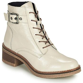 Shoes Women Ankle boots Dorking LUCERO Ecru