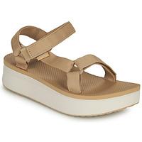 Shoes Women Sandals Teva Flatform Universal Beige / White