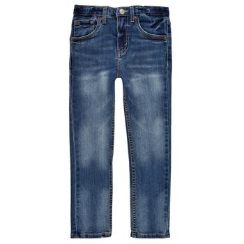 Clothing Boy Skinny jeans Levi's 510 SKINNY FIT EVERYDAY PERFORMANCE JEANS Blue / Dark