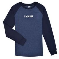Clothing Boy Long sleeved tee-shirts Levi's LONG SLV WAFFLE TEE SHIRT Marine