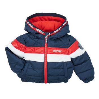 Clothing Boy Duffel coats Levi's COLORBLOCK JACKET Marine / White / Red