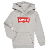 Clothing Boy Sweaters Levi's BATWING SCREENPRINT HOODIE Grey