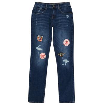 Clothing Boy Slim jeans Guess CLASMI Blue