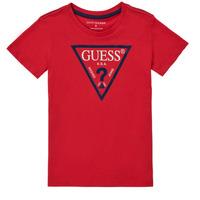 Clothing Boy Short-sleeved t-shirts Guess THERONN Red