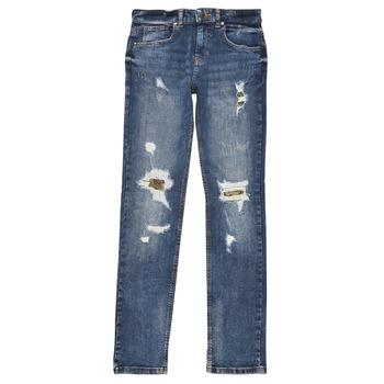 Clothing Boy Slim jeans Guess PERNOLA Blue