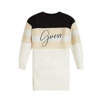 Clothing Girl Short Dresses Guess HOULLA Beige / Et / Blue