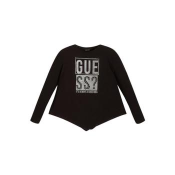 Clothing Girl Long sleeved tee-shirts Guess UPSET Black