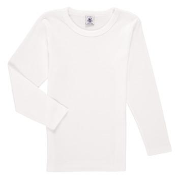 Clothing Boy Long sleeved tee-shirts Petit Bateau KELOMA White