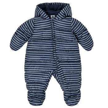 Clothing Boy Duffel coats Petit Bateau TECHA Blue / White