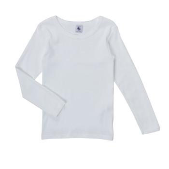 Clothing Girl Long sleeved tee-shirts Petit Bateau FATRE White