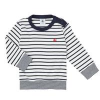 Clothing Boy Long sleeved tee-shirts Petit Bateau IGRAE White / Blue