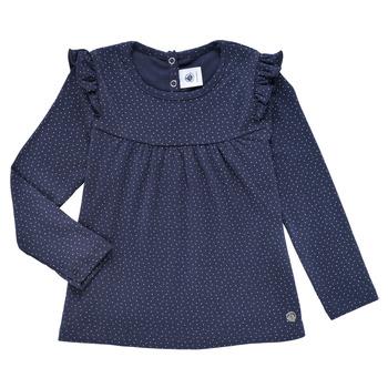 Clothing Girl Long sleeved tee-shirts Petit Bateau IWAKA Marine