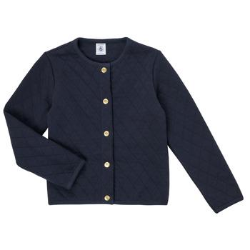 Clothing Girl Jackets / Cardigans Petit Bateau COLYNNE Blue