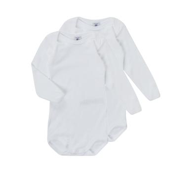 Clothing Children Sleepsuits Petit Bateau TESSA White