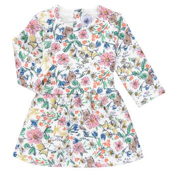 Clothing Girl Short Dresses Petit Bateau ROPPAL Multicolour