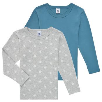Clothing Boy Long sleeved tee-shirts Petit Bateau HOQUIN Multicolour