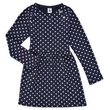Clothing Girl Short Dresses Petit Bateau KARREMA Blue / White