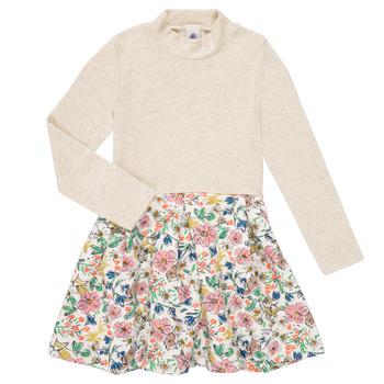Clothing Girl Short Dresses Petit Bateau WESSRI Multicolour