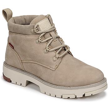 Shoes Women Mid boots Levi's SOLVI ANKLE Beige