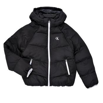 Clothing Girl Duffel coats Calvin Klein Jeans BRINIMA Black