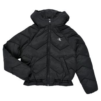 Clothing Girl Duffel coats Calvin Klein Jeans ZIETRA Black