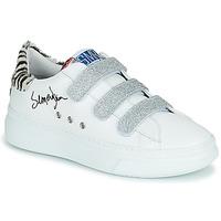 Shoes Women Low top trainers Semerdjian BARRY White / Silver