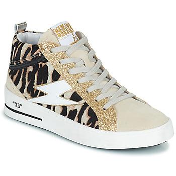 Shoes Women Hi top trainers Semerdjian CIELLO Beige / Gold