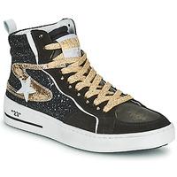 Shoes Women Hi top trainers Semerdjian MARAL Black / Gold
