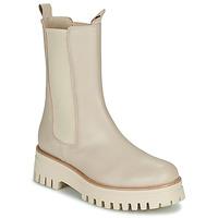 Shoes Women Mid boots Sweet Lemon POLIRA Beige