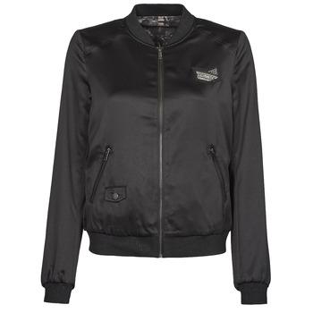 Clothing Women Jackets Ikks FANNY Black / Kaki