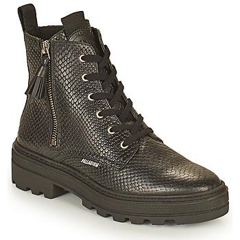Shoes Women Mid boots Palladium Manufacture CULT 04 NAP Black