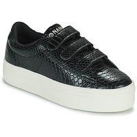 Shoes Women Low top trainers No Name PLATO M STRAPS Black