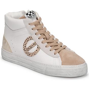 Shoes Women Hi top trainers No Name STRIKE MID CUT White