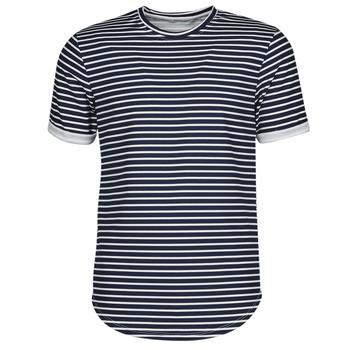 Clothing Men Short-sleeved t-shirts Yurban ORICO Marine / White