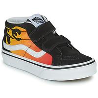 Shoes Boy Hi top trainers Vans SK8-MID Black / Red