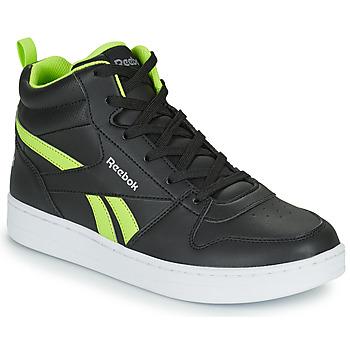 Shoes Children Hi top trainers Reebok Classic REEBOK ROYAL PRIME Black / Yellow