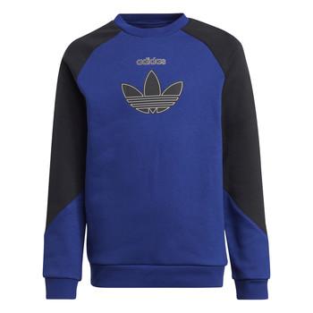 Clothing Children Sweaters adidas Originals ROUGED Marine / Black