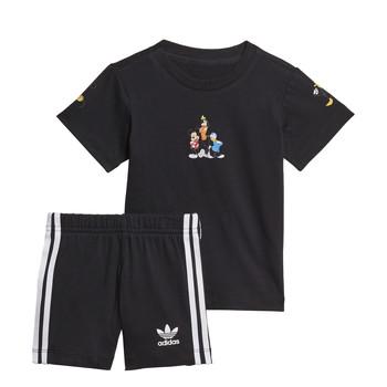 Clothing Boy Sets & Outfits adidas Originals COTES Black