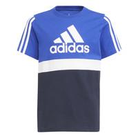 Clothing Boy Short-sleeved t-shirts adidas Performance ABATIA Marine / Black