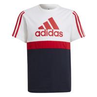 Clothing Boy Short-sleeved t-shirts adidas Performance GUILIA White / Marine