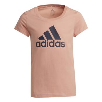 Clothing Girl Short-sleeved t-shirts adidas Performance ALBERIC Pink