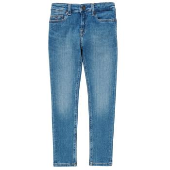 Clothing Boy Skinny jeans Tommy Hilfiger SIMON Blue